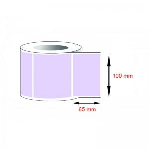 Decal thường, decal giấy (100x65)mmx1x100m nhuộm màu tím nhạt