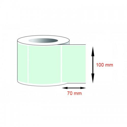 Decal thường, decal giấy (100x70)mmx1x50m nhuộm màu xanh lá nhạt