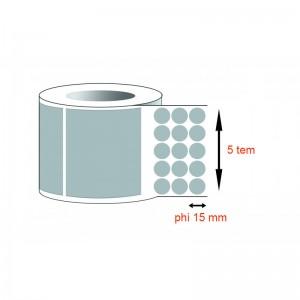 Decal thường - Decal giấy tròn phi 15mmx5x50m
