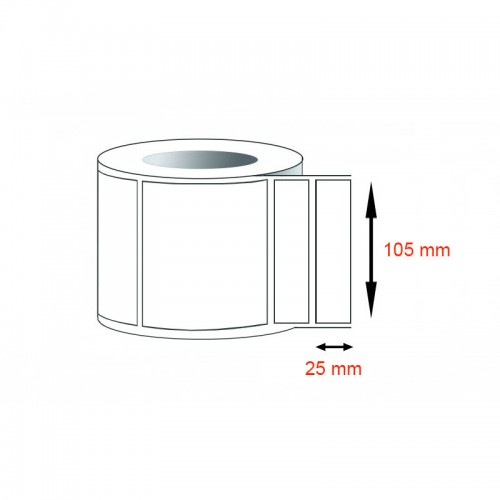 Decal thường - Decal giấy Fasson (105x25)mmx1x50m