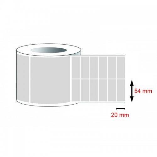 Decal PVC - Giấy in tem nhãn mã vạch PVC (54x20)mmx2x50m