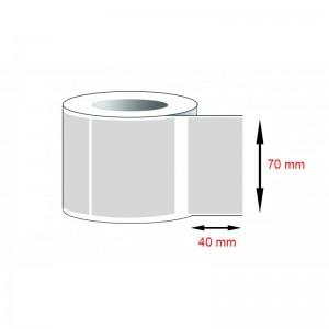 Decal PVC - Giấy in tem nhãn mã vạch PVC (70x40)mmx1x100m