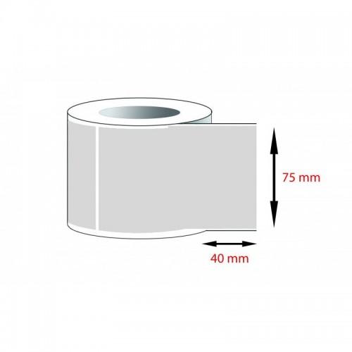 Decal PVC - Giấy in tem nhãn mã vạch PVC (75x40)mmx1x50m