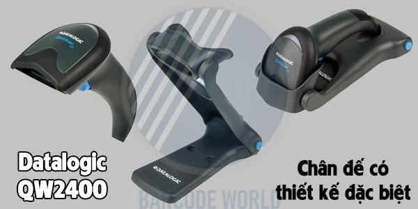 Thiết kế tay cầm thanh mảnh, chân đế có thể gấp gọn
