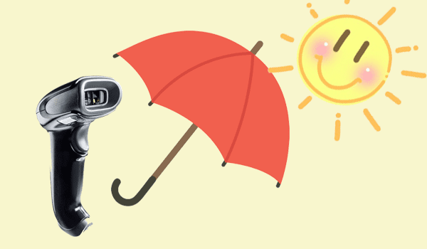 Tránh để máy quét - đầu đọc mã vạch dướiánh nắng mặt trời trong thời gian dài