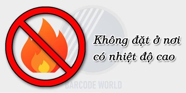 Không để máy quét mã vạch tại/gần nơi có nhiệt độ/độ ẩm cao