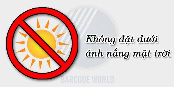 Tránh để máy quét làm việc hoặc bảo quản máy ở nơi ánh nắng chiếu trực tiếp