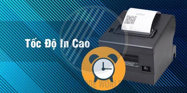 Với giấy in nhiệt chất lượng, tốc độ in được cải thiện đáng kể