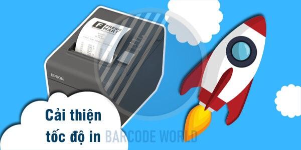 Với công nghệ in nhiệt trực tiếp, máy in hóa đơn in nhanh chóng hơn