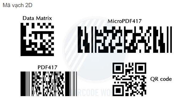 Các loại mã vạch 2D