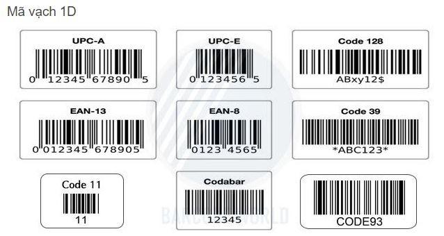 Các loại mã vạch 1D