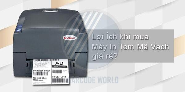Được gì khi chọn mua máy in tem nhãn mã vạch giá rẻ?