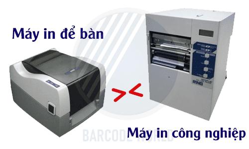 Nên lựa chọn máy in công nghiệp hay máy in để bàn dùng trong công nghiệp?