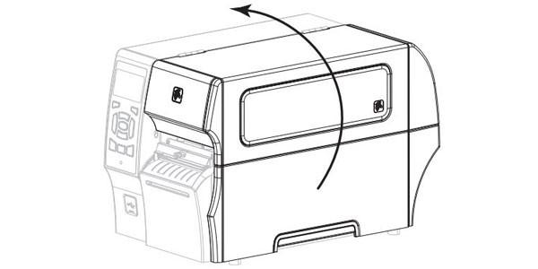 Tiến hành mở nắp đậy máy in và tháo giấy mực ra khỏi máy in.