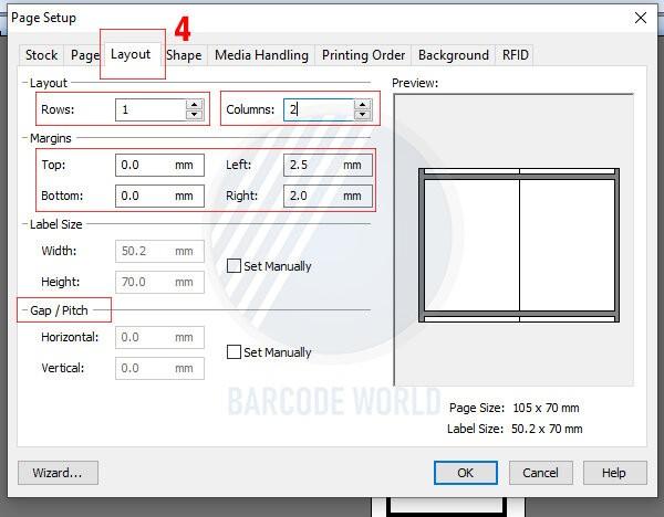 Hướng dẫn khắc phục máy in mã vạch bị lệch do cài đặt sai kích thước (2)
