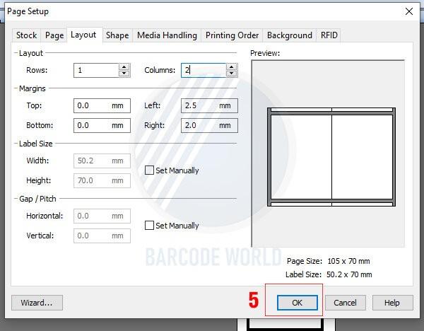 Hướng dẫn khắc phục máy in mã vạch bị lệch do cài đặt sai kích thước (3)