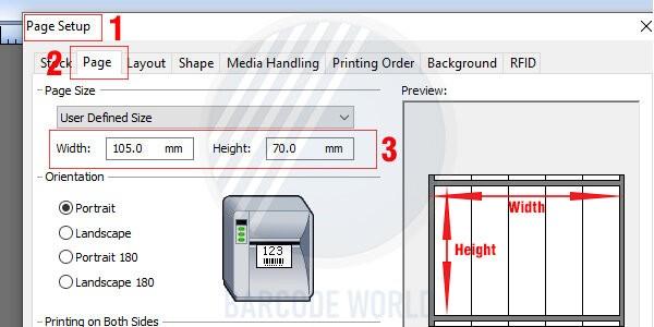 Hướng dẫn khắc phục máy in mã vạch bị lệch do cài đặt sai kích thước (1)