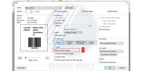 Hướng dẫn khắc phục máy in mã vạch bị lệch do file in không tương thích (7)