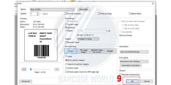 Hướng dẫn khắc phục máy in mã vạch bị lệch do file in không tương thích (8)