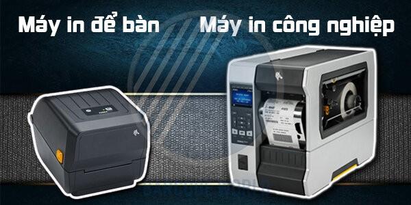 So sánh máy in để bàn và máy in tem nhãn công nghiệp