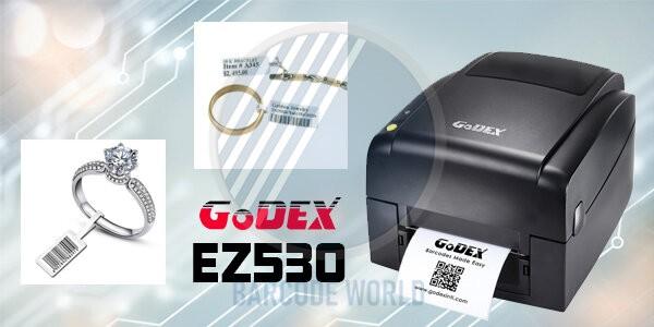 Máy in tem vàng bạc trang sức GoDEX EZ530 với độ phân giải lên đến 300 dpi