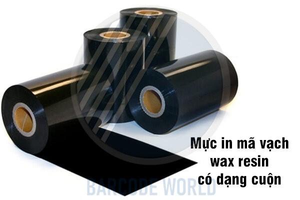 Mực in mã vạch wax resin được cấu tạo theo dạng cuộn