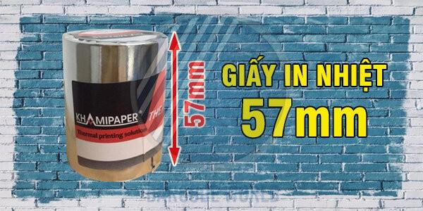 Giấy in nhiệt Khami với bề rộng khổ 57mm