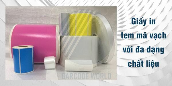Giấy in tem mã vạch với nhiều kích thước, chất liệu, màu sắc khác nhau
