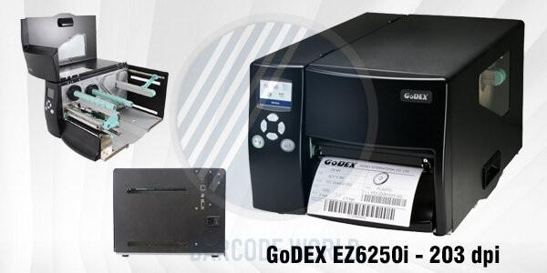 Máy in tem barcode GoDEX EZ6250i - 203 dpi chính hãng, chất lượng