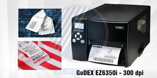 Máy in tem barcode GoDEX EZ6350i - 300 dpi chính hãng, chất lượng