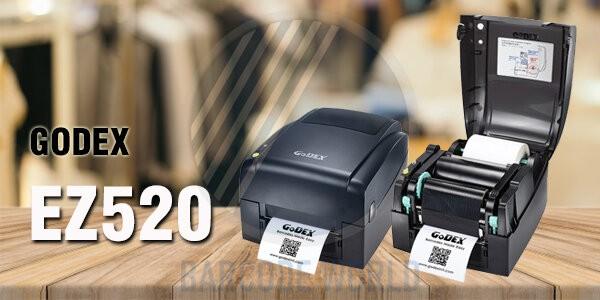 Máy in tem mã vạch GoDEX EZ520 với kết cấu chắc chắn, đáng tin cậy