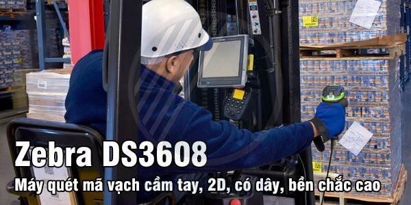 Máy quét mã vạch công nghiệp Zebra DS3608