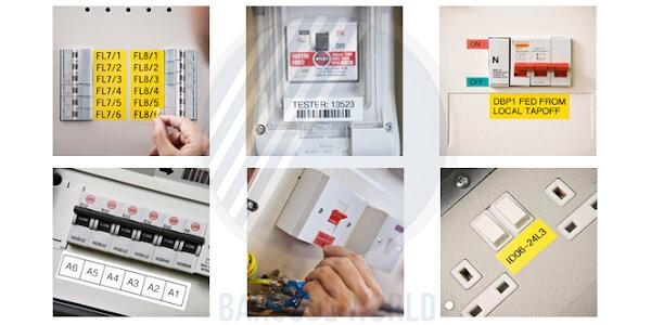 Ứng dụng in nhãn tủ điện của máy in nhãn Brother