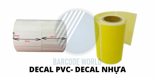 Giấy in mã vạch loại decal nhựa - decal PVC