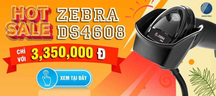 HOT SALE - Máy quét mã vạch Zebra DS4608 giá cực ưu đãi