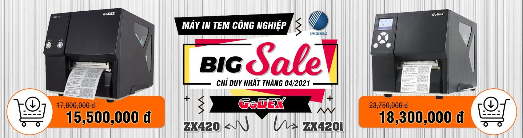 Tháng 04/2021 - Máy in tem công nghiệp GoDEX ZX420, ZX420i giá tốt chưa từng có