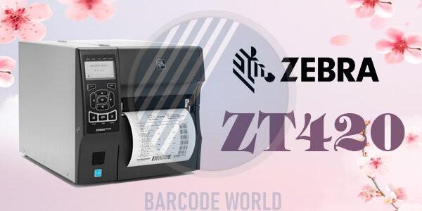 Máy in tem qr code Zebra ZT420 cấu trúc chắc chắn, khả năng in ấn mạnh mẽ