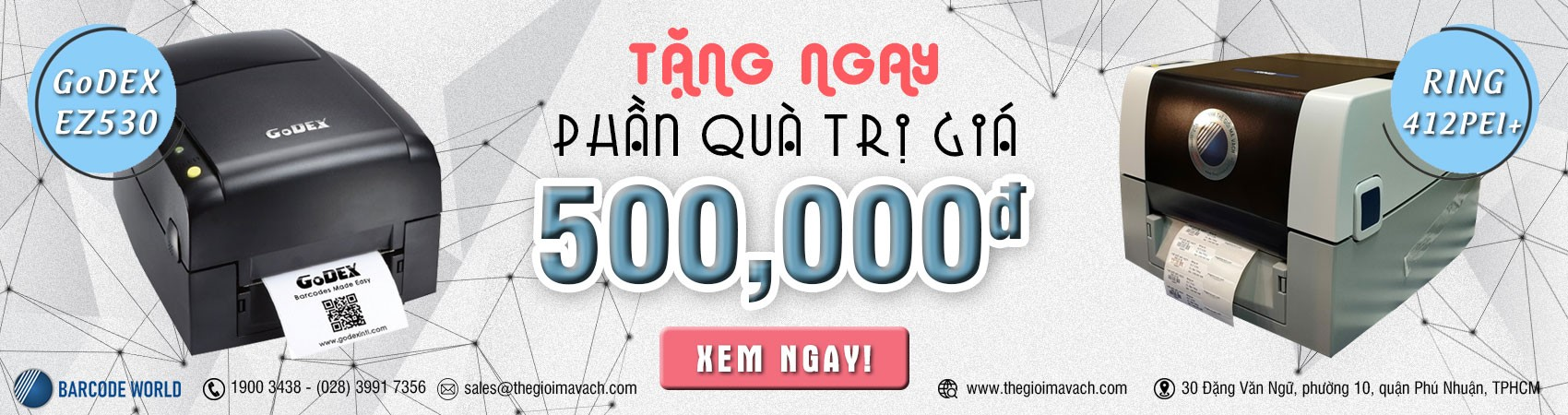 IN TEM NHÃN HIỆU QUẢ CÙNG MÁY IN MÃ VẠCH CHẤT LƯỢNG - QUÀ TẶNG ĐẾN 500.000 Đ