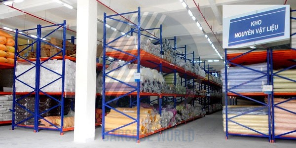 Kho nguyên vật liệu, phụ liệu tại doanh nghiệp