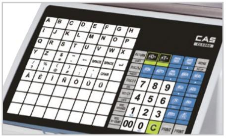 Bàn phím của cân điện tử in nhãn CAS CL5200