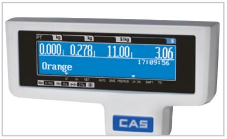 Màn hình hiển thị của cân điện tử in nhãn CAS CL5200 lớn