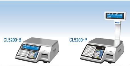 2 phiên bản cân điện tử in nhãn CAS CL5200