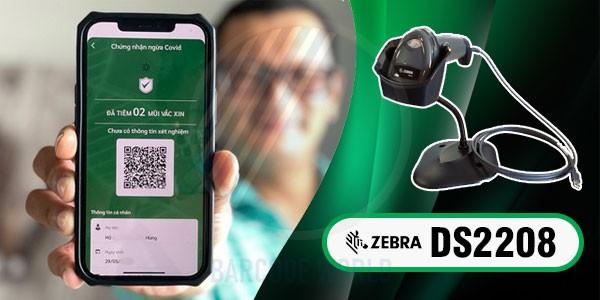 Máy quét mã QR code Zebra DS2208 cho khai báo y tế