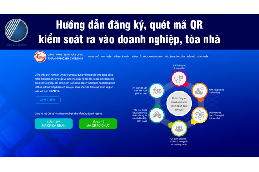 Hướng dẫn đăng ký, quét mã QR kiểm soát ra vào doanh nghiệp, tòa nhà