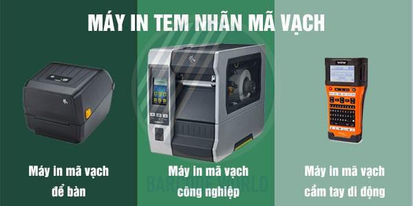 Các dòng máy in tem nhãn mã vạch khác nhau