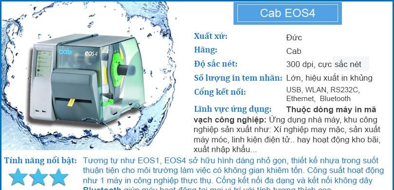 Máy in mã vạch công nghiệp Cab EOS4