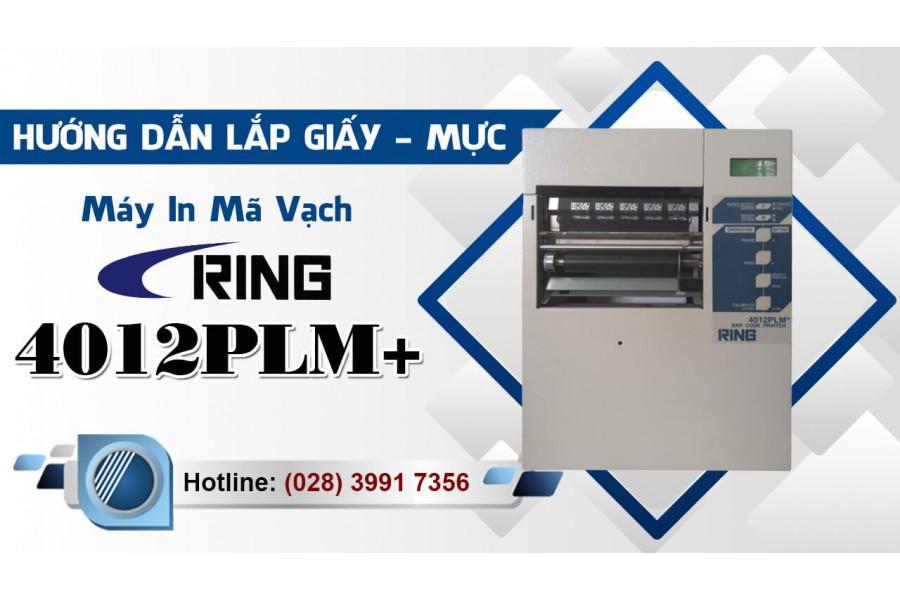 Hướng dẫn lắp giấy - mực Máy In Mã Vạch - Tem Nhãn RING 4012PLM+