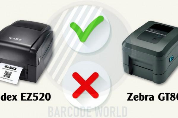 SO SÁNH ƯU NHƯỢC ĐIỂM CỦA MÁY IN BARCODE GODEX EZ520 VÀ ZEBRA GT800