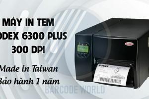 MÁY IN TEM GODEX 6300 PLUS 300 DPI - MADE IN TAIWAN - BẢO HÀNH 1 NĂM