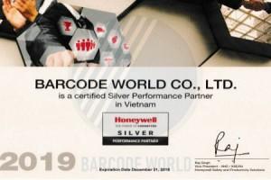 BARCODE WORLD ĐẠT CHỨNG NHẬN SILVER PARTNER CỦA HONEYWELL
